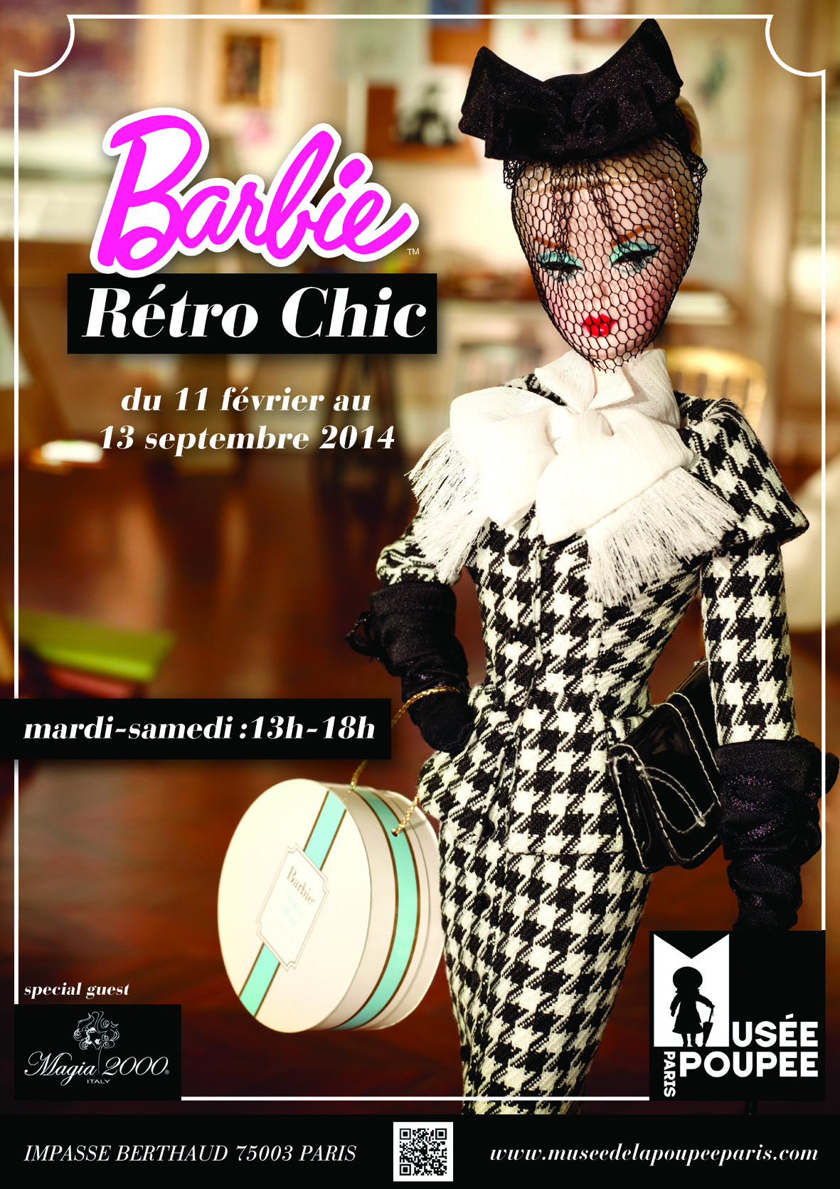 affiche barbie retro chic-2